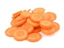 Cenoura cortada. Imagem de Stock