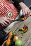Cenoura da estaca da mulher Foto de Stock