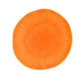 Cenoura da fatia isolada em um fundo branco Foto de Stock Royalty Free