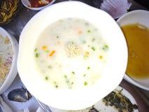Cenoura do vegetariano da sopa imagens de stock