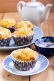 Cenoura e queques alaranjados Imagem de Stock