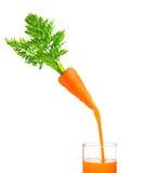 Cenoura e suco isolados Fotografia de Stock
