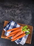 Cenoura Grupo fresco das cenouras Cenouras de bebê isoladas Cenouras alaranjadas orgânicas frescas cruas Alimento saudável do veg Fotografia de Stock Royalty Free