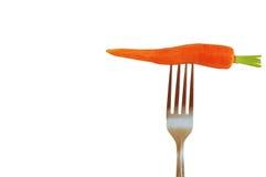 Cenoura na forquilha Fotografia de Stock