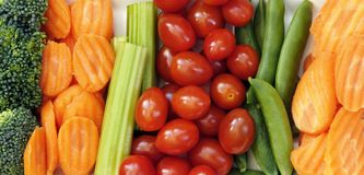 Cenouras, aipo, tomates Imagens de Stock