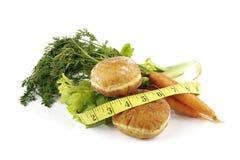 Cenouras com aipo e filhóses Imagem de Stock