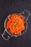 Cenouras com especiarias finamente - desbastado Foto de Stock