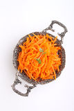 Cenouras com especiarias finamente - desbastado Fotografia de Stock Royalty Free