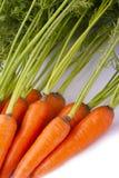 Cenouras com folhas Imagem de Stock