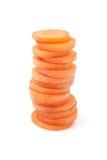 Cenouras cortadas imagem de stock