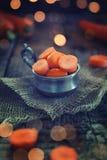 Cenouras cortadas Imagens de Stock Royalty Free