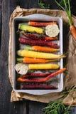 Cenouras cruas coloridas Imagem de Stock Royalty Free