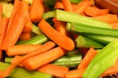 Cenouras e aipo Foto de Stock