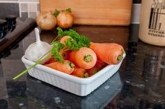 Cenouras e alho Foto de Stock Royalty Free