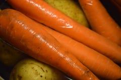 Cenouras e batatas Imagens de Stock