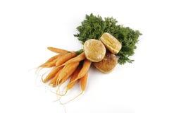 Cenouras e filhós imagens de stock