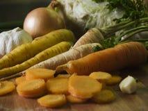 Cenouras e outros vegetais Foto de Stock Royalty Free