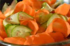 Cenouras e pepinos Imagem de Stock