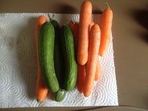 Cenouras e pepinos Foto de Stock Royalty Free