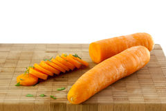 Cenouras e salsa Foto de Stock