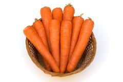 Cenouras em uma cesta Imagem de Stock Royalty Free
