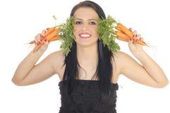 Cenouras frescas Fotos de Stock