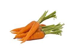 Cenouras frescas isoladas imagens de stock royalty free