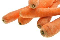 Cenouras frescas isoladas no fundo branco foto de stock royalty free