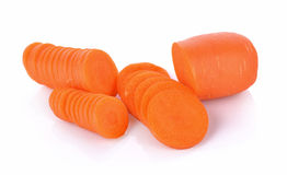Cenouras frescas isoladas no fundo branco Imagem de Stock Royalty Free