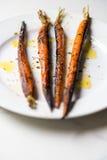 Cenouras Roasted Fotografia de Stock