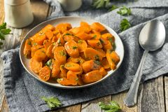 Cenouras sauteed caseiros saborosos Fotos de Stock
