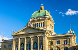 Cenral portion of the Bundeshaus in Bern Stock Photography