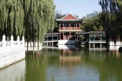 Cenário antigo do jardim de China Fotografia de Stock