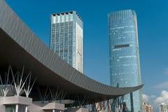 Cenário da arquitectura da cidade Foto de Stock Royalty Free