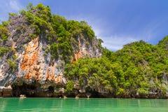 Cenário rochoso do parque nacional de Phang Nga Imagem de Stock Royalty Free