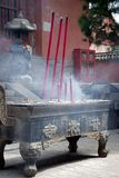 Censer. The temple censer,Shanxi and the temple Royalty Free Stock Photography