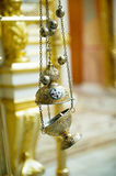 Censer. Christian priest incense and bells hanging Stock Image
