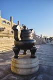 Censer di rame sull'altare della preghiera nel tempio del cielo Immagine Stock Libera da Diritti