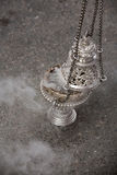 Censer of silver or alpaca to burn incense in the holy week Royalty Free Stock Photography
