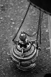 Censer of silver or alpaca to burn incense in the holy week Royalty Free Stock Photos
