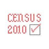 Censo 2010 - bordado Imágenes de archivo libres de regalías