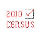 Censo 2010 - bordado Fotografía de archivo