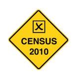 Censo 2010 - muestra de camino Fotos de archivo libres de regalías