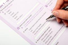 Censo británico 2011 Fotografía de archivo libre de regalías