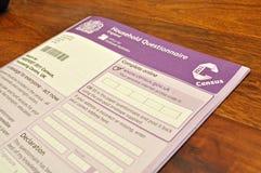 Censo BRITÁNICO 2011 imagen de archivo libre de regalías