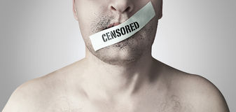 Censored. Watch your words, they become actions Stock Images