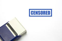 CENSORED blue rubber stamp. Over a white background Stock Photo