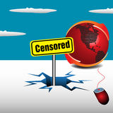 Censored concept Royalty Free Stock Image