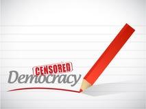 Censored democracy sign illustration design Stock Image