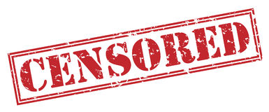 Censored red stamp Stock Photos